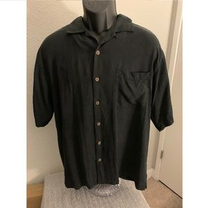 Tommy Bahama Men's Relax Black button front Shirt